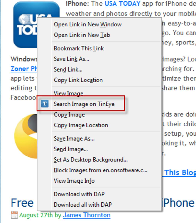 Tineye reverse image search chrome