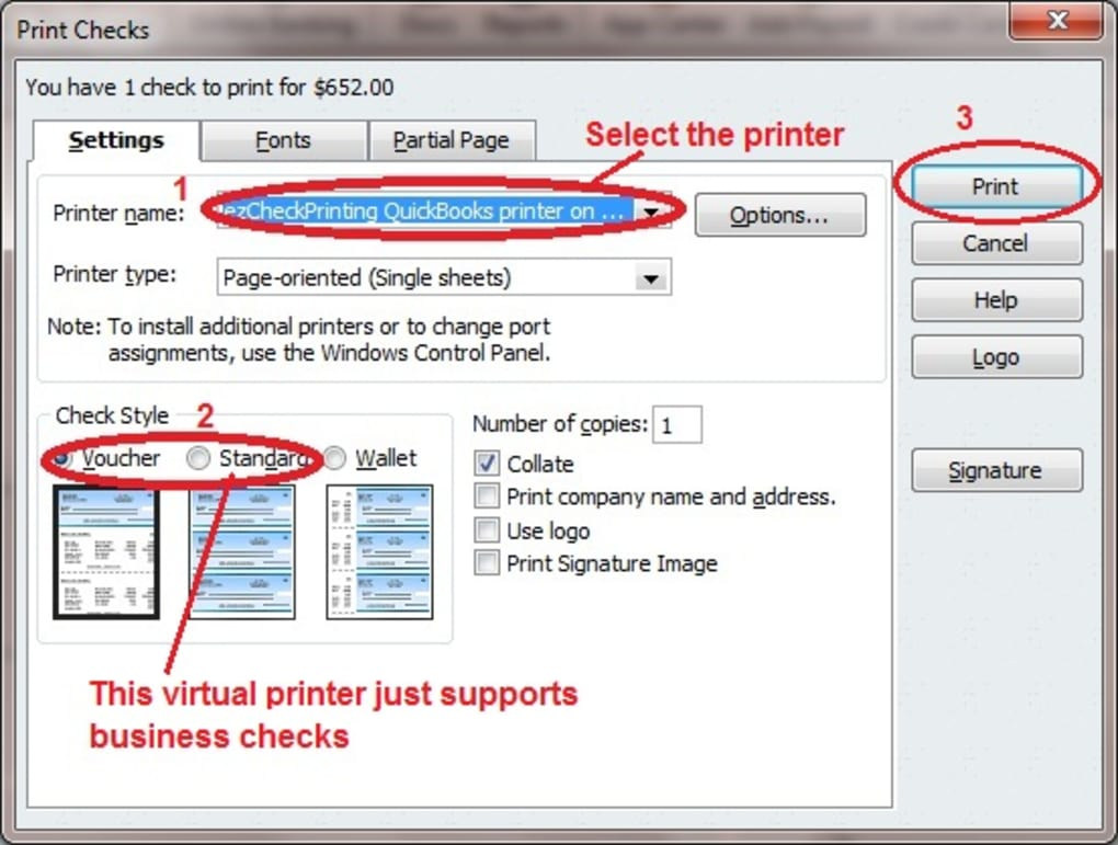 graphic about Printable Checks for Quickbooks named QuickBooks Watch Digital Printer - Down load