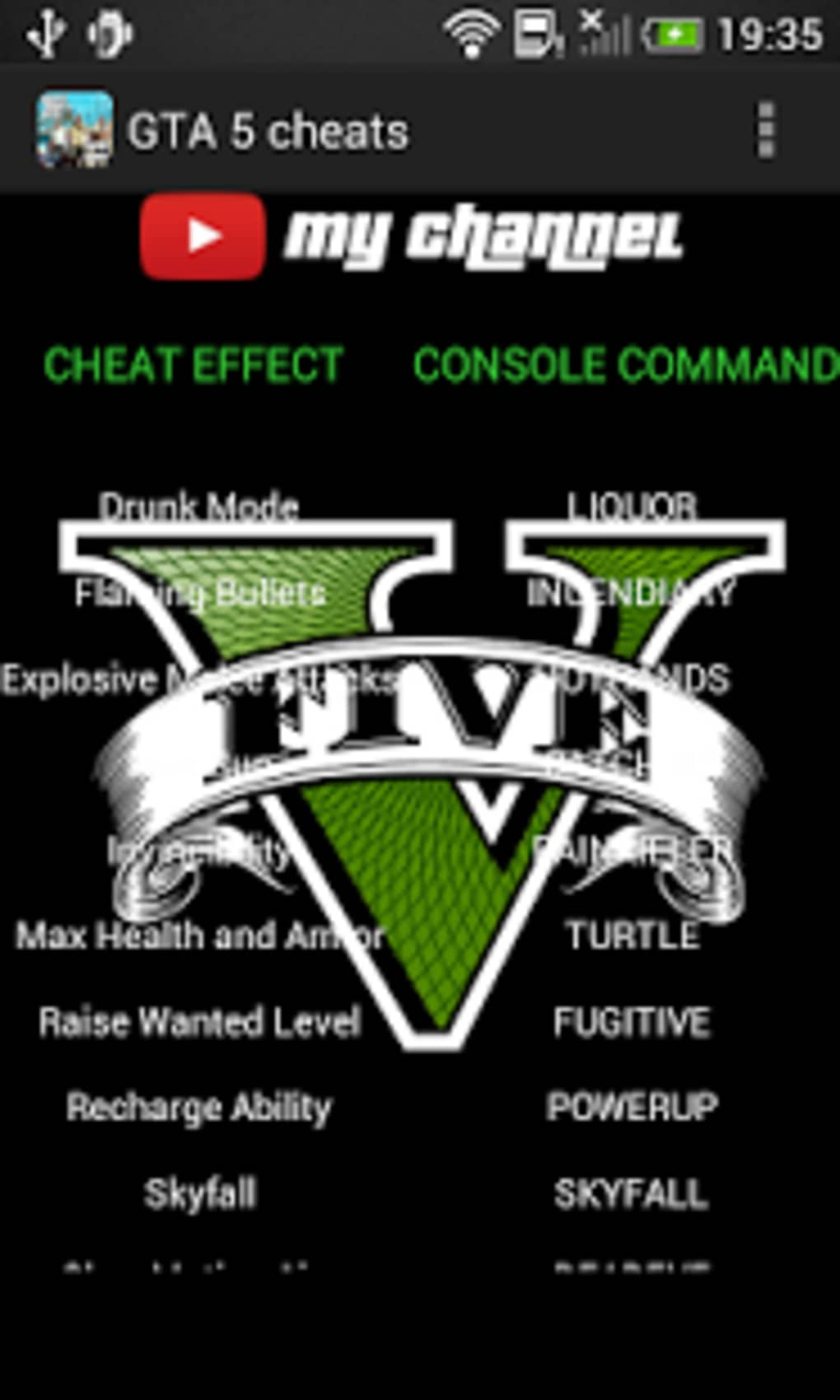 GTA 5 cheats for PC for Android - Download