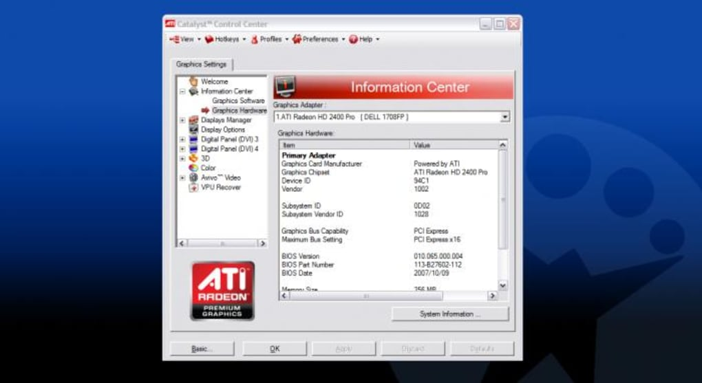 تحميل amd catalyst control center