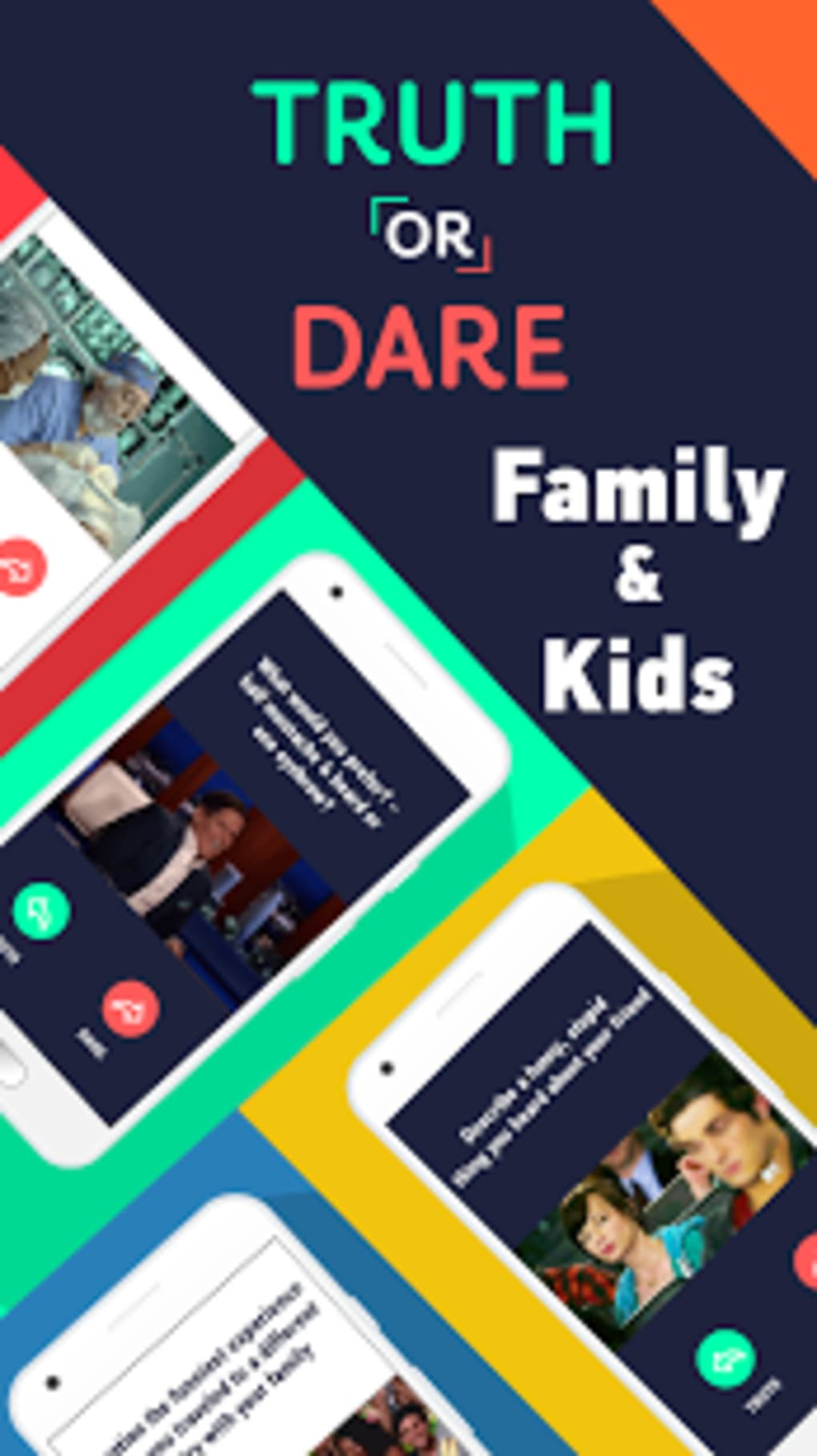 Truth Or Dare Clean Party Game For Kids Family For Android