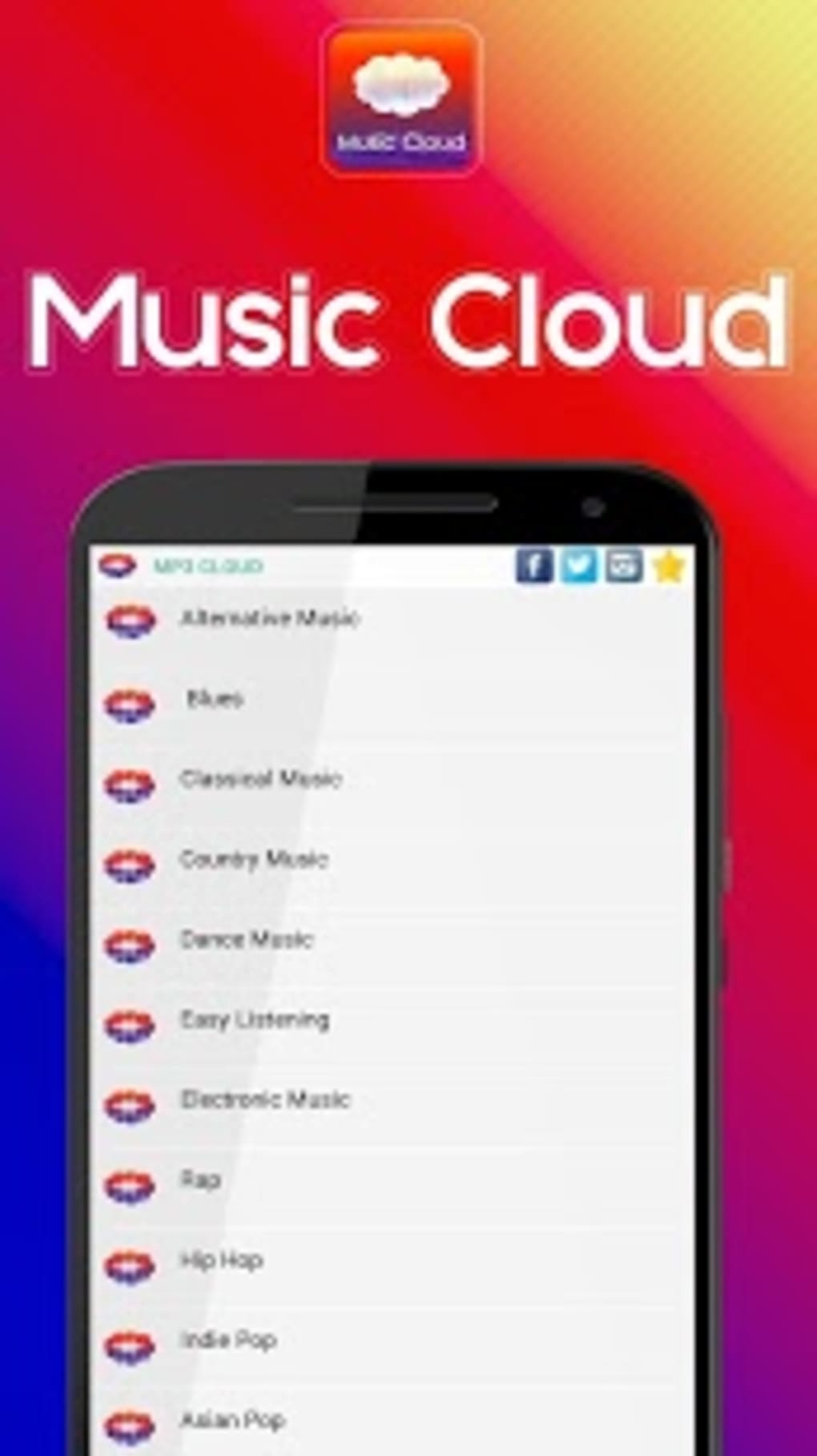 Music Cloud Free Music Player for Android - Download