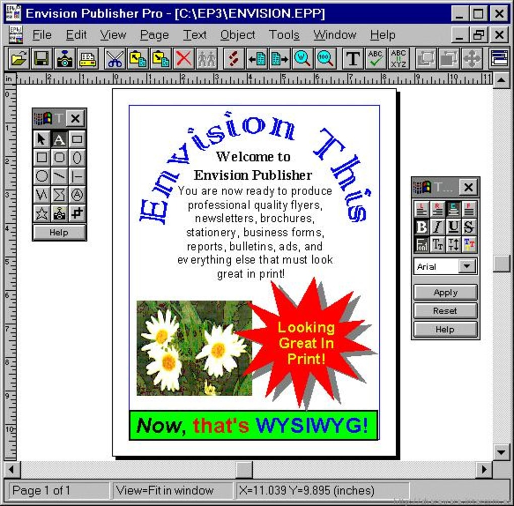 envision publisher for windows 3.01b