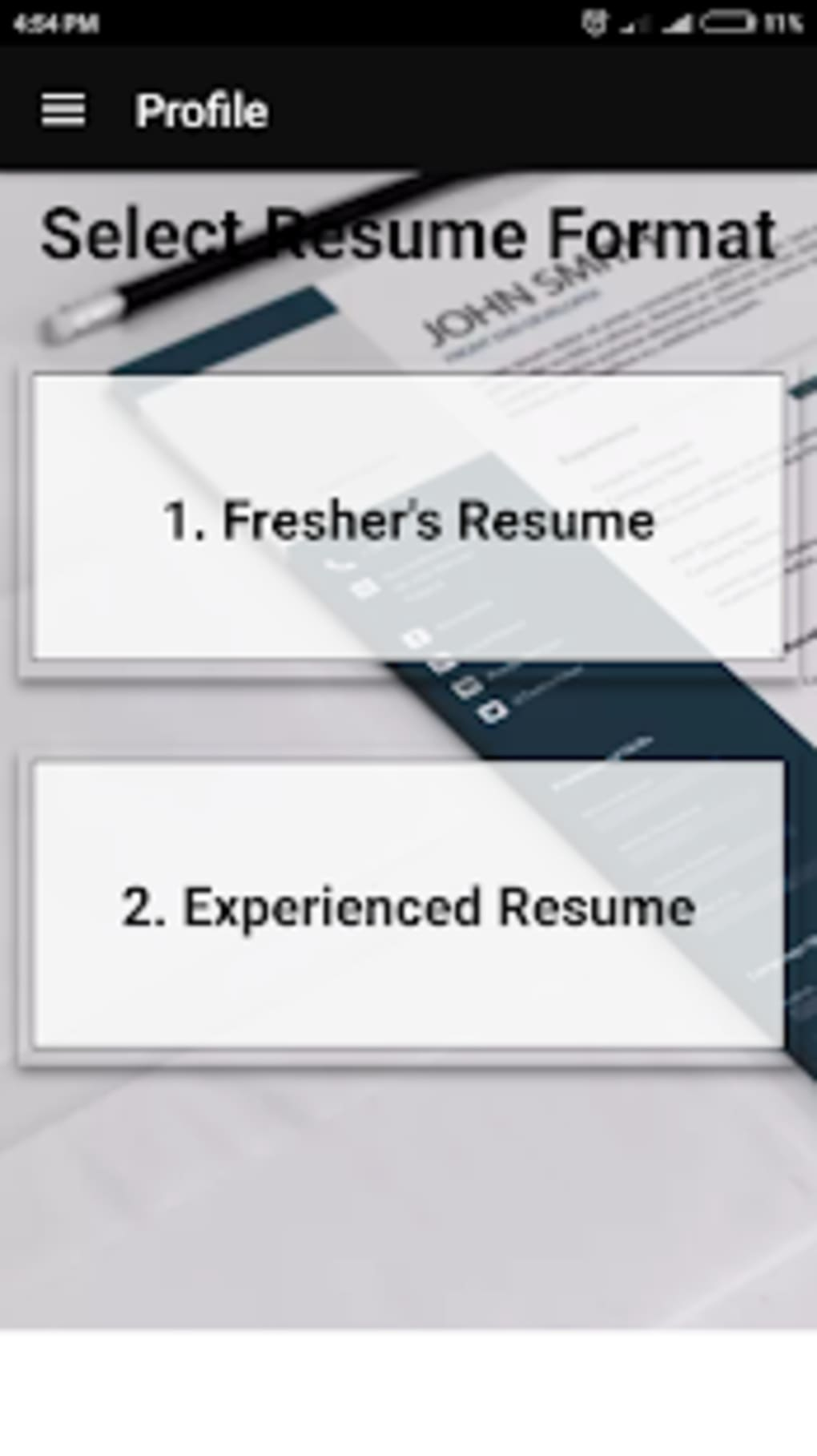 free resume builder cv maker templates pdf formats for android