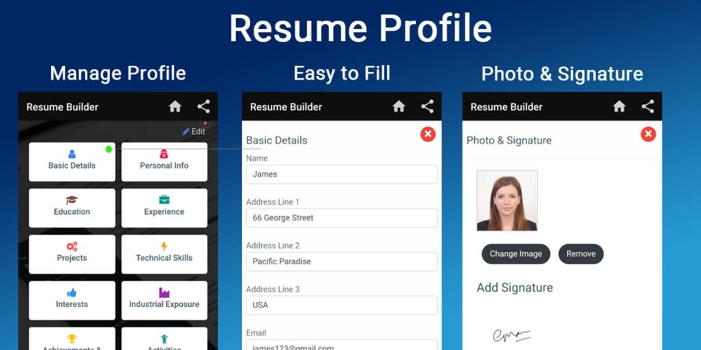 Free Resume Builder Cv Maker Templates Pdf Formats Apk For Android Download