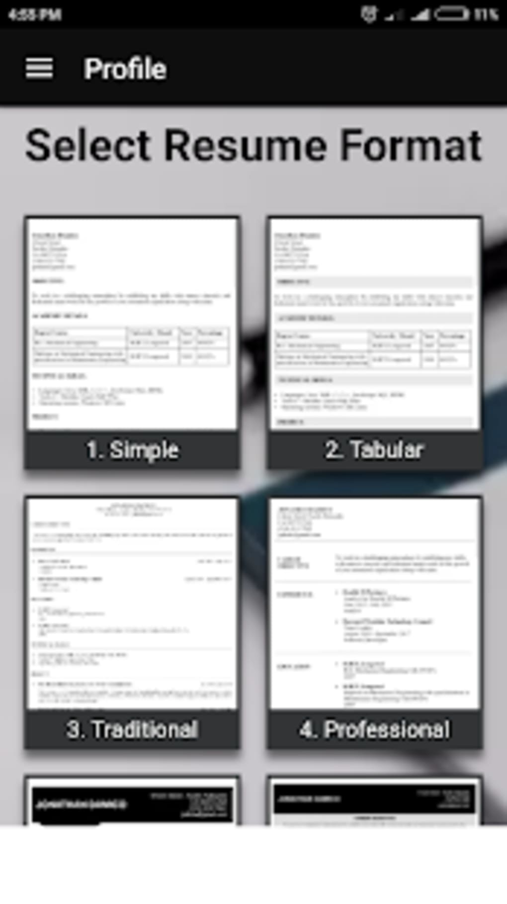 Free resume builder CV maker templates