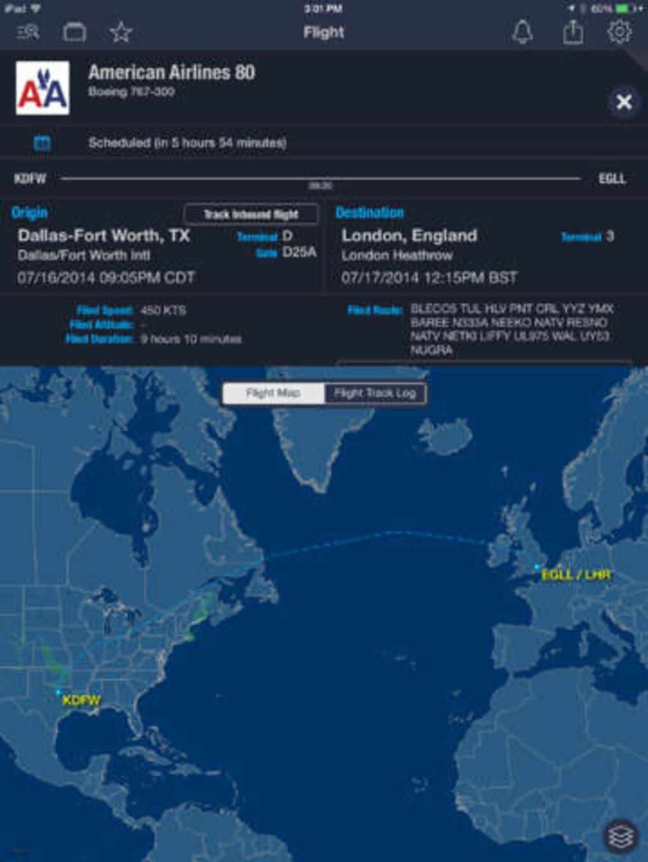 aplicacion para rastrear un vuelo