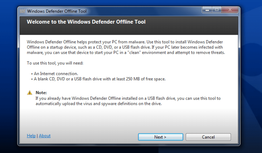 Windows Defender Offline (Windows) - Download