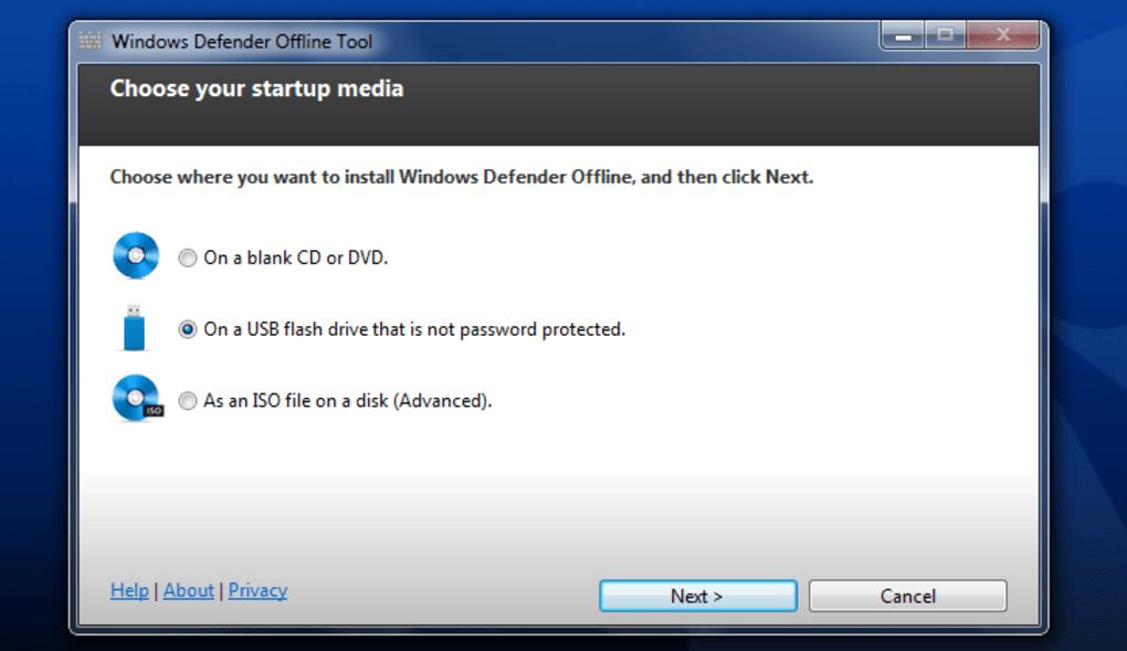 installer antivirus windows defender