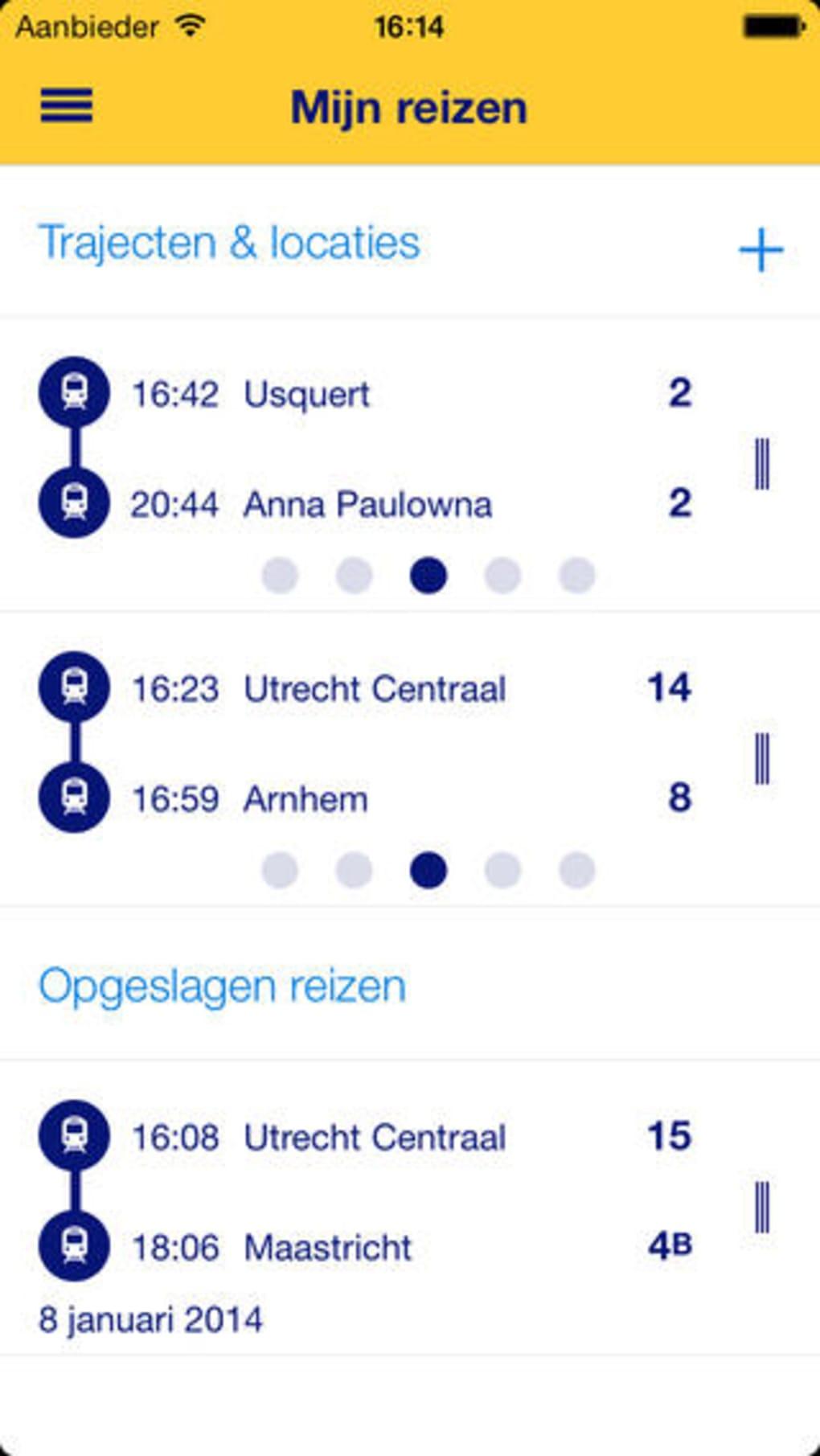 NS Reisplanner Xtra voor iPhone - Download
