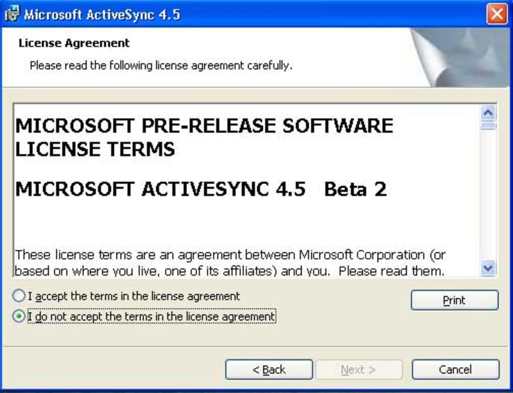 Microsoft activesync 4. 2 download for windows / filehorse. Com.