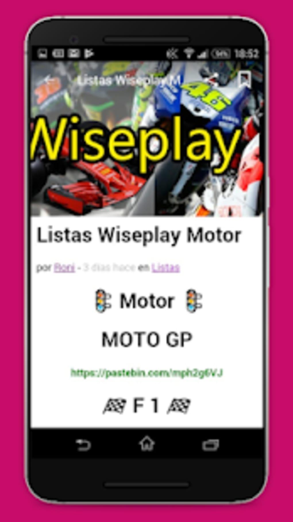 descargar listas wiseplay motogp