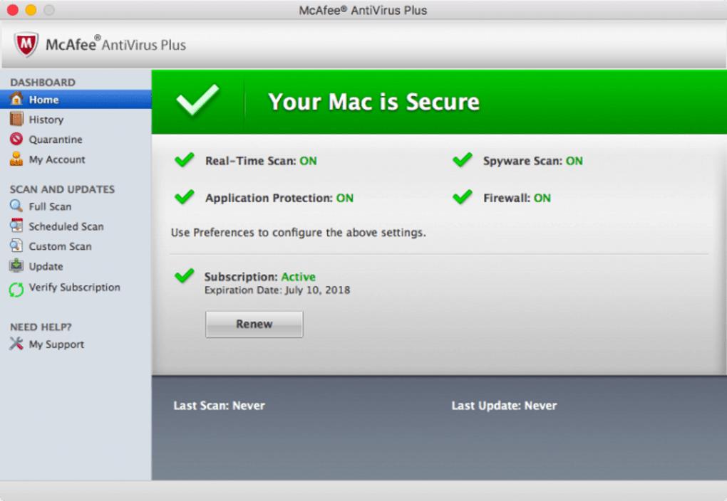 McAfee antivirus for Mac - Download