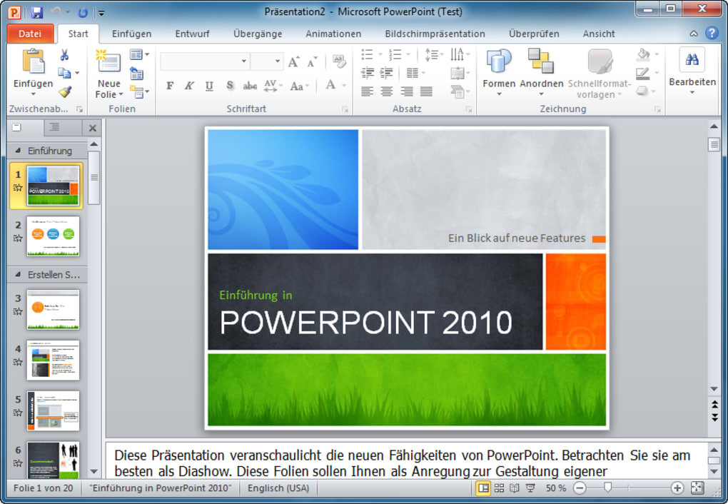 powerpoint 2010 testversion