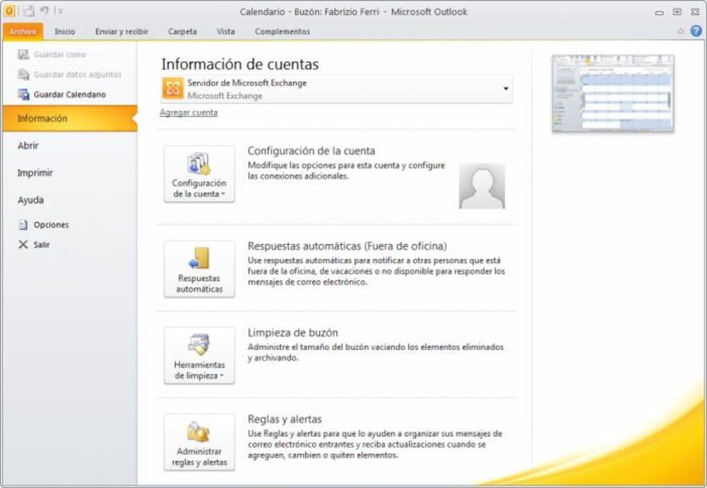 descargar outlook gratis para windows 7