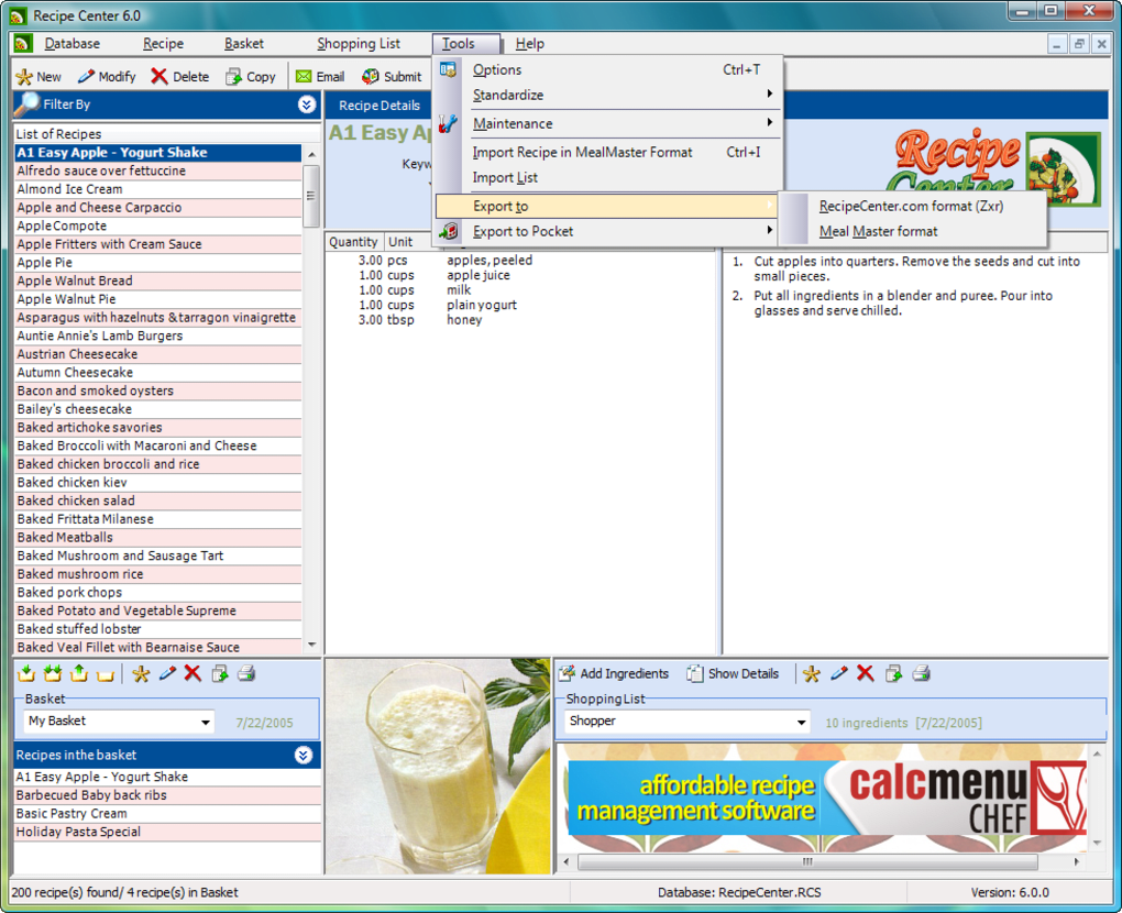 Recipe Center - Download