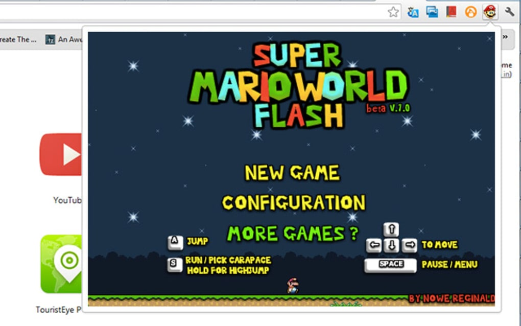 Flash Super Mario World