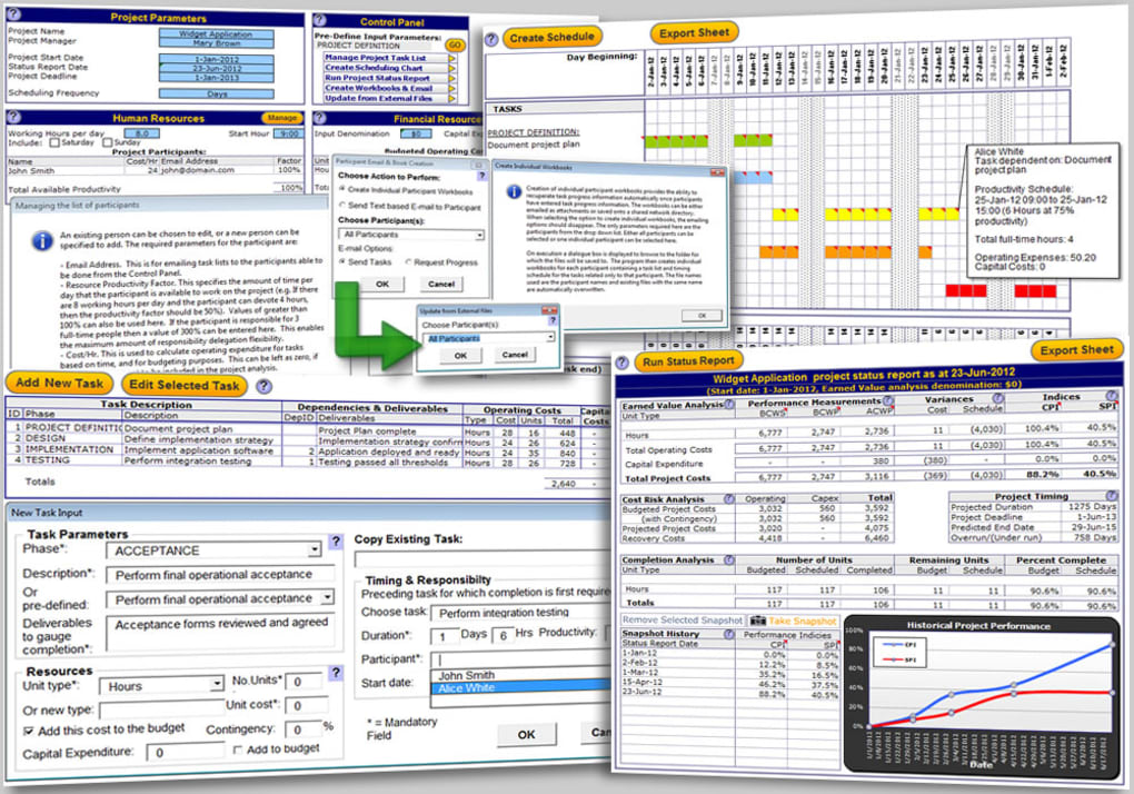 excel project management template 11 screenshots