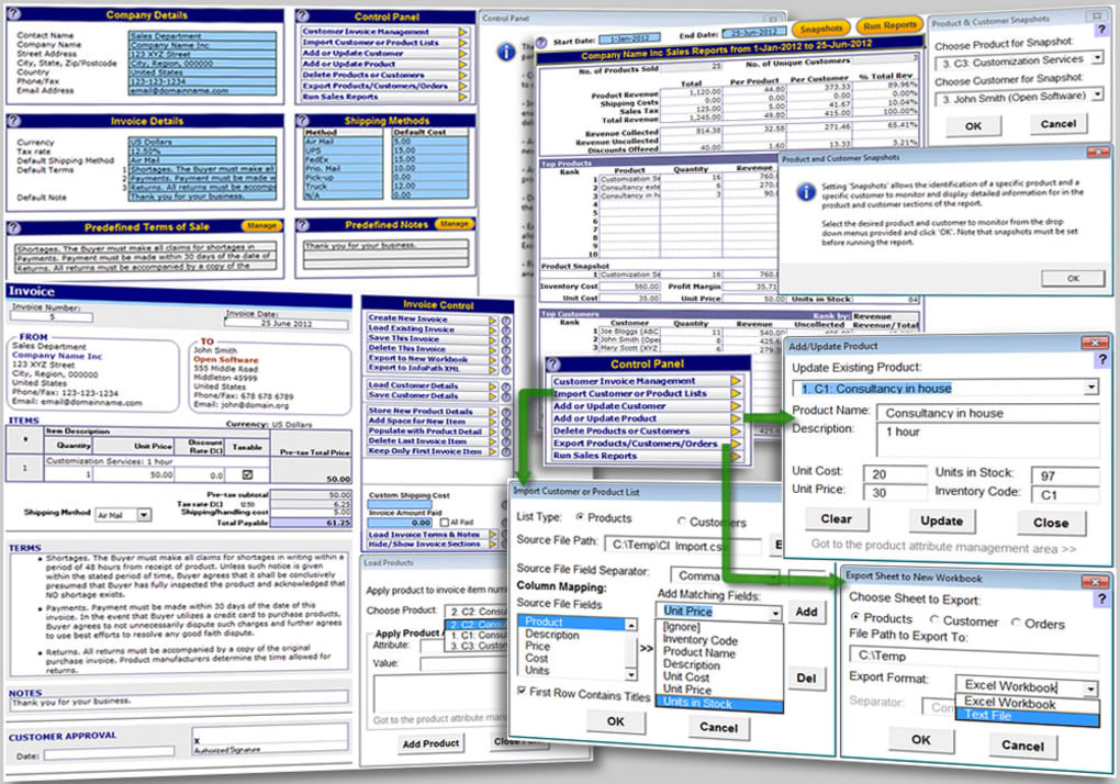 excel invoicing template 11 screenshots
