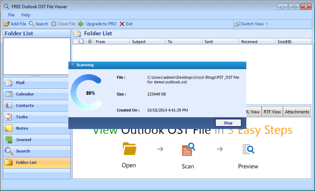 FREE Outlook OST File Viewer - Download