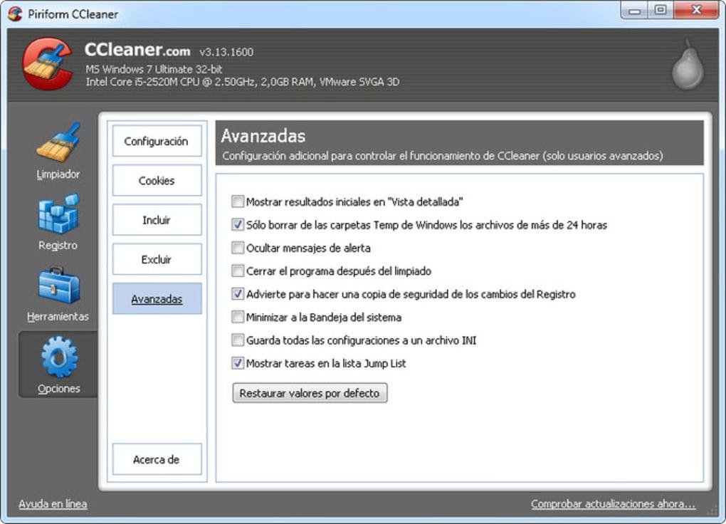 programa ccleaner gratis para windows 10