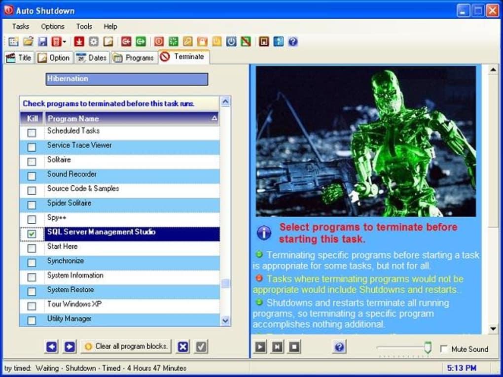 how to set auto shutdown timer in windows 8