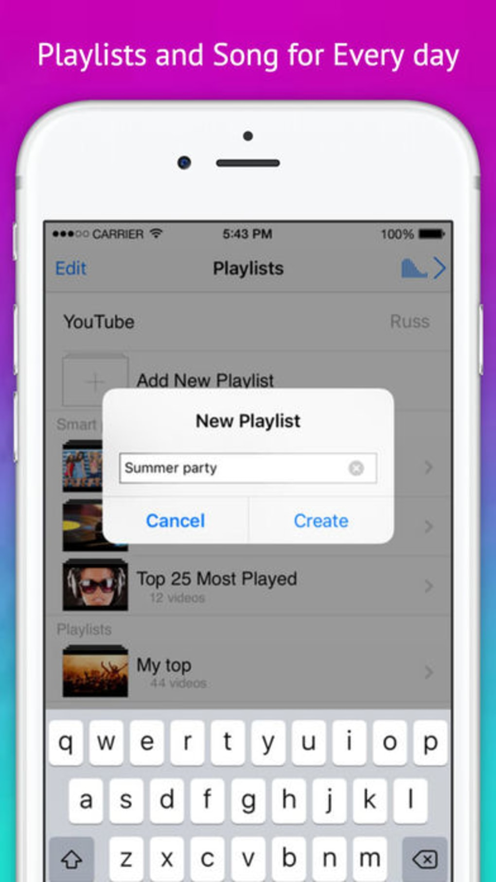 Play Video - Music Tube & playlist for youtube for iPhone - Download