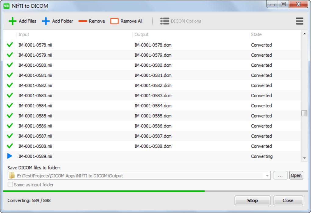 NIfTI to DICOM - Download