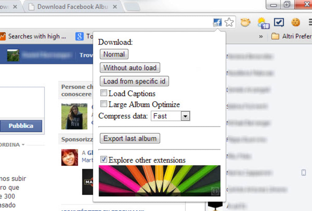 intero album facebook chrome