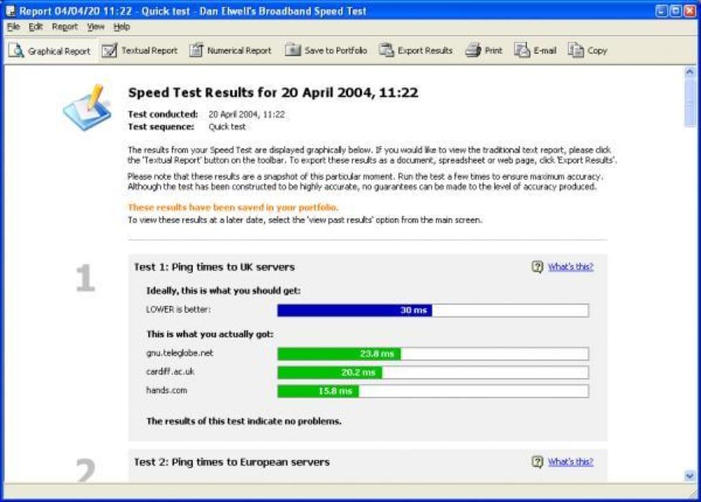 Dan Elwells Broadband Speed Test
