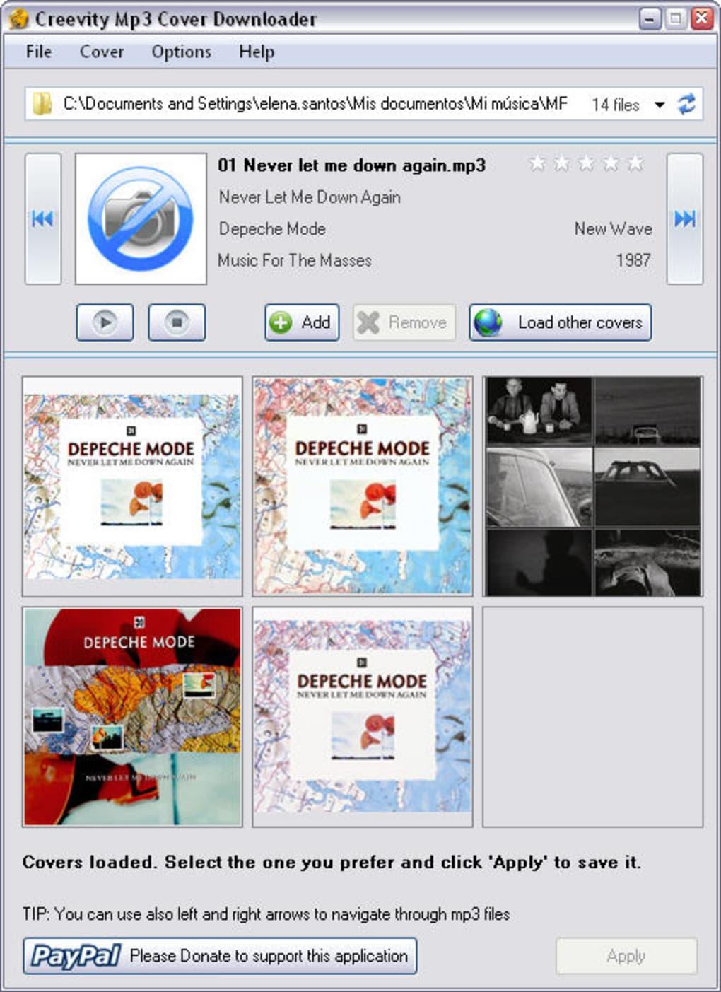 mp3 album cover downloader