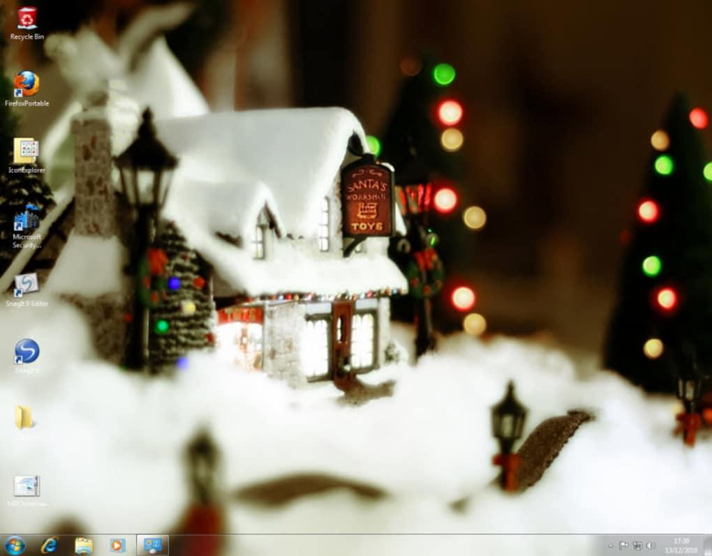 windows 7 christmas theme screenshot