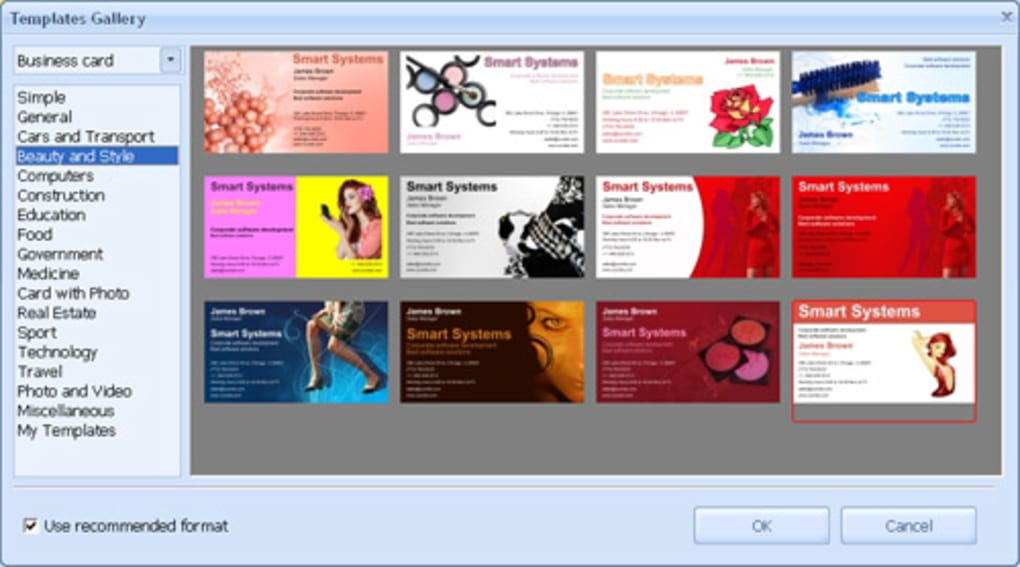 Business card maker download business card maker prs reheart Choice Image