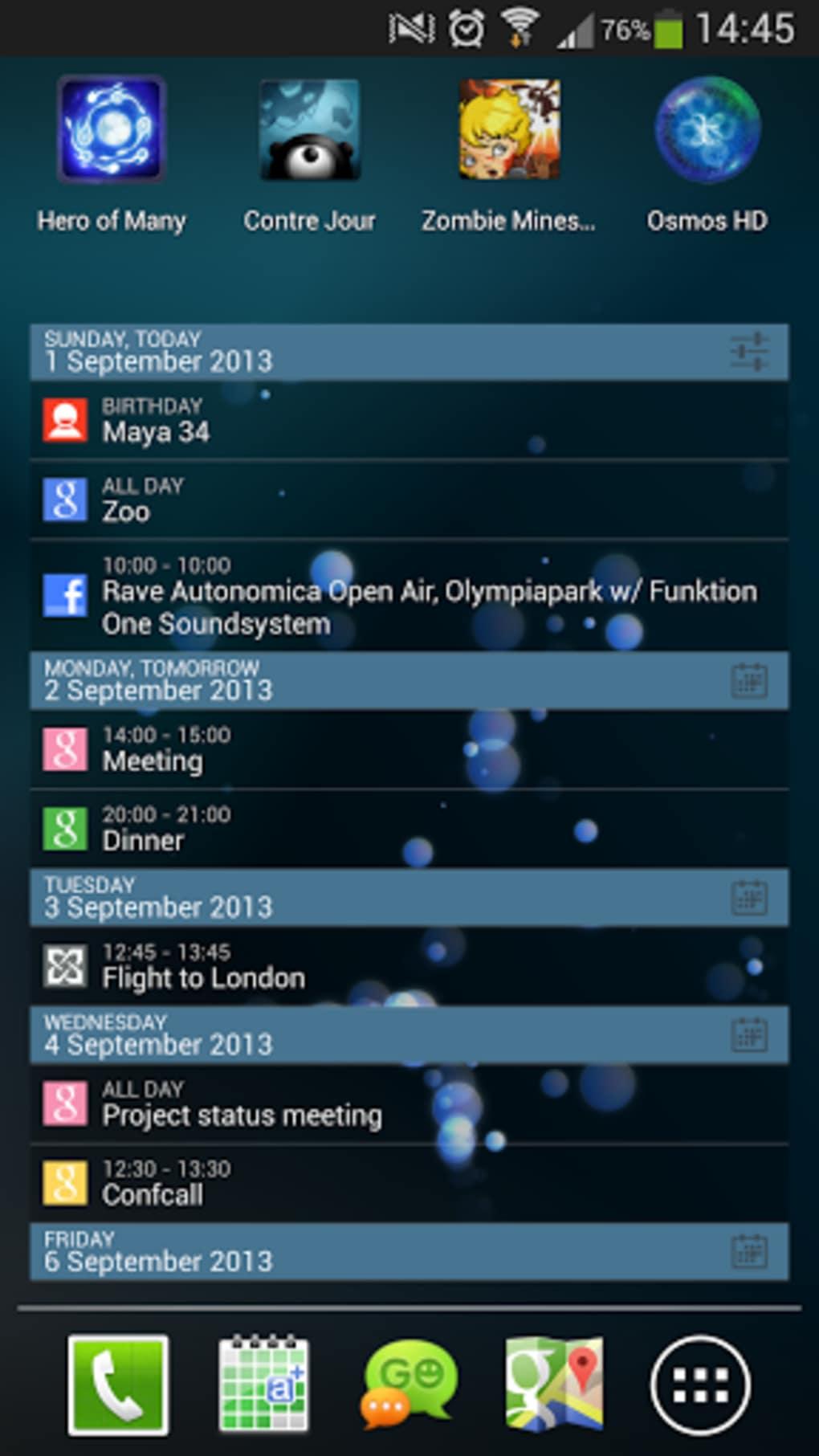 Calendario Android.Acalendar Para Android Descargar