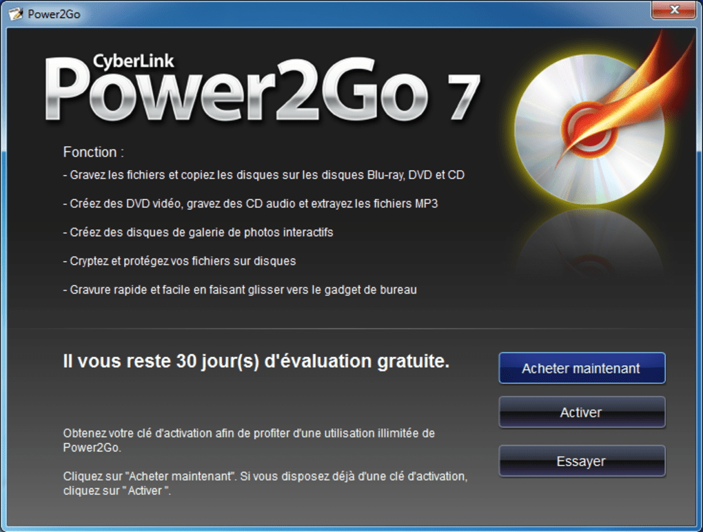 cyberlink power2go 8 gratuit
