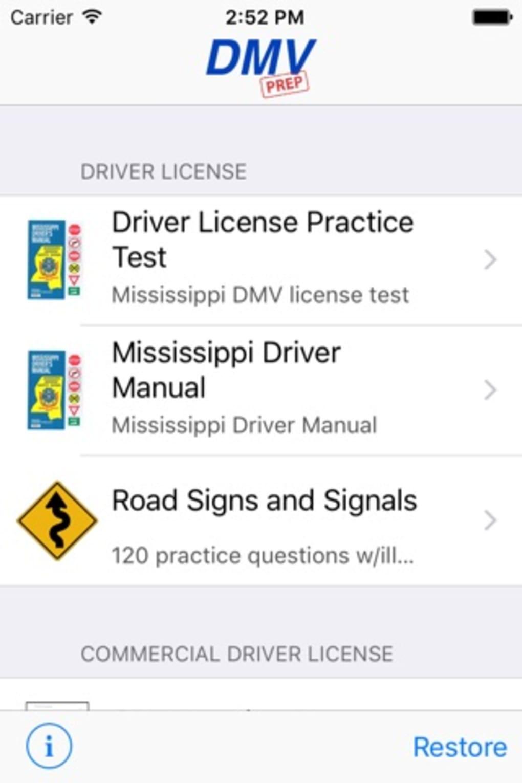 mississippi commercial drivers license test