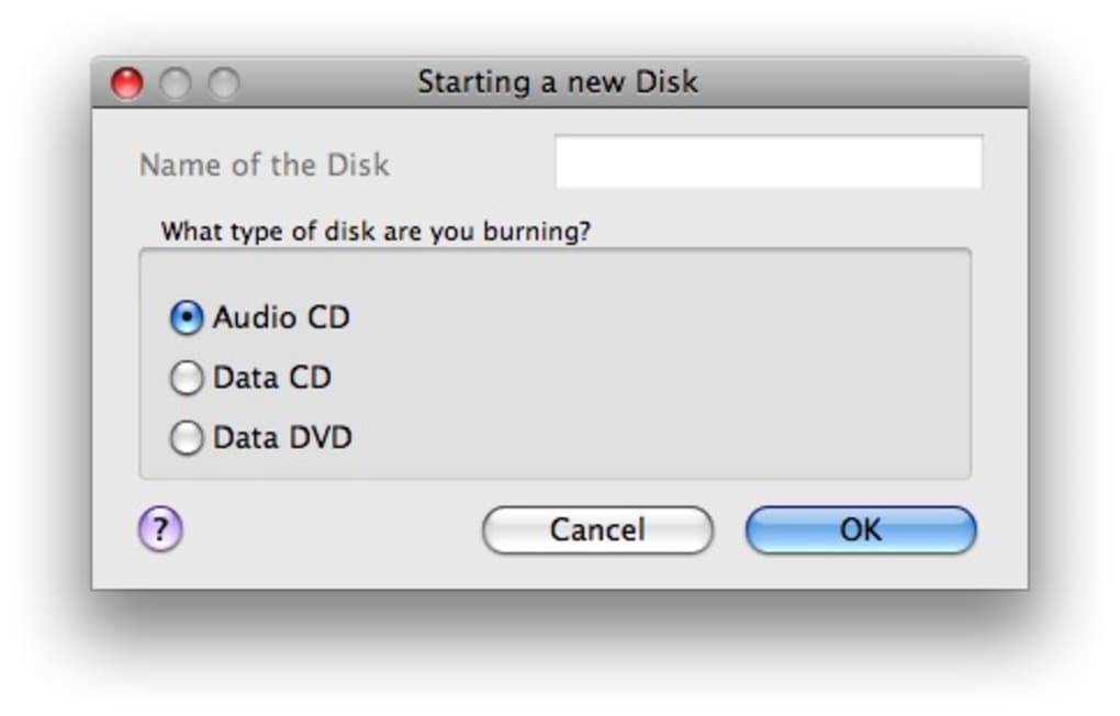 Cd burning software for mac
