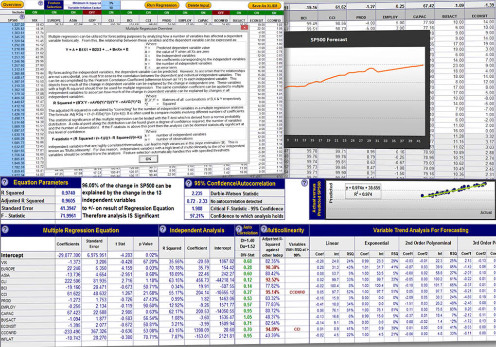 Excel Regression Analysis - Download