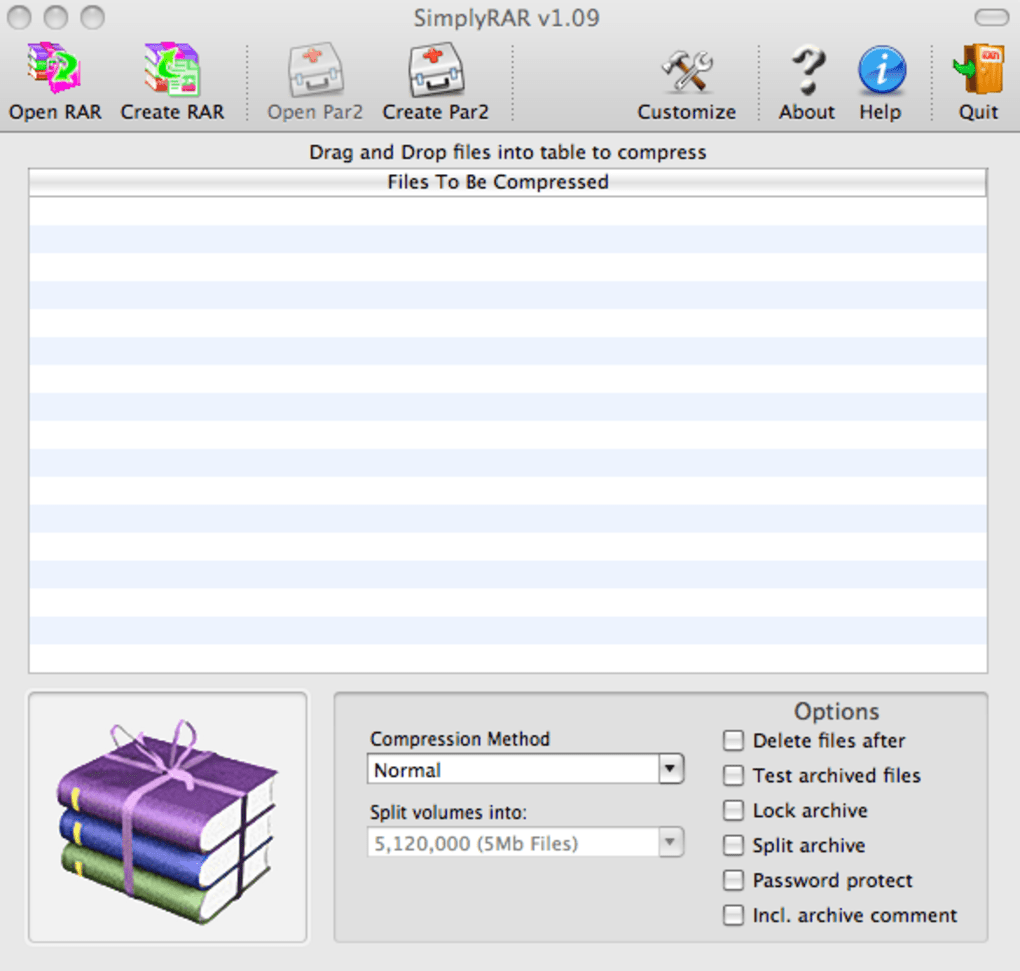create split zip file mac