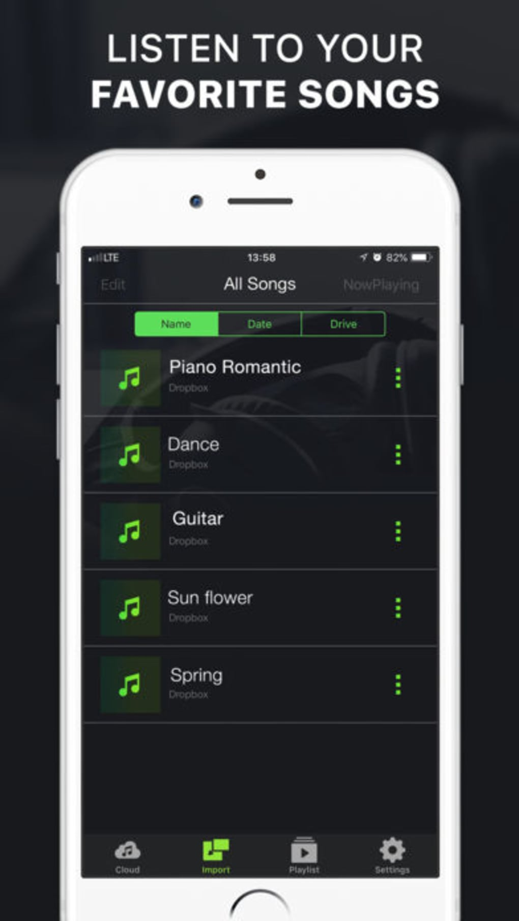 player music mp3 offline fm iphone app