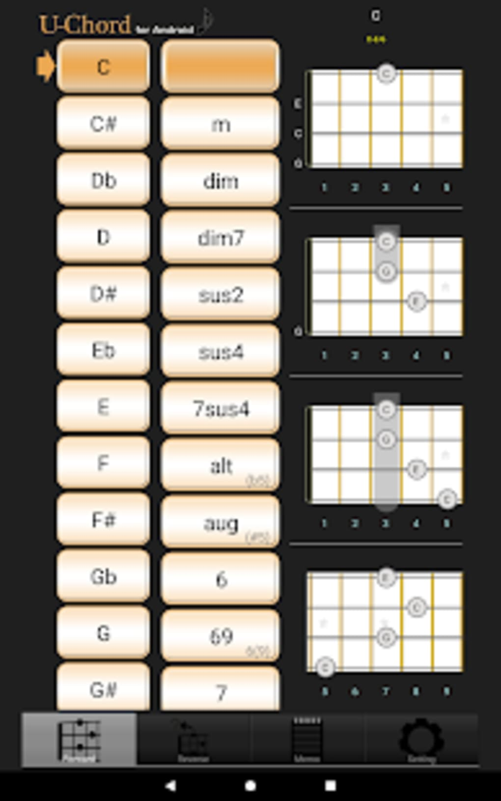 UChord3 Ukulele Chord for Android - Download