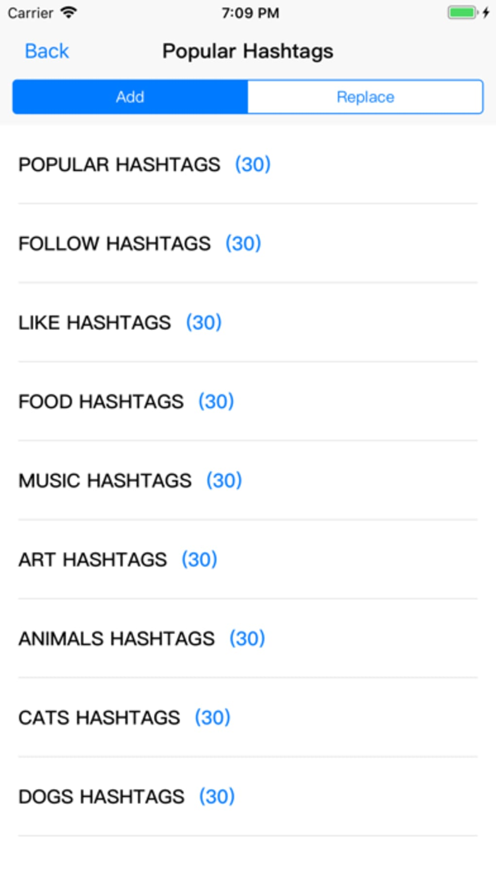 Likes Tags for Instagram for iPhone - Download