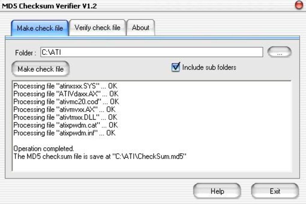 MD5 Checksum Verifier - Download
