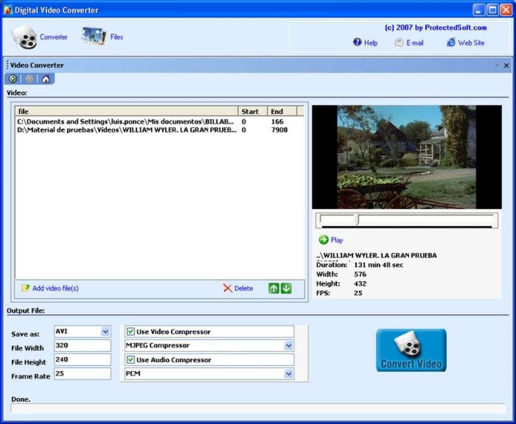 How to convert video to avi format