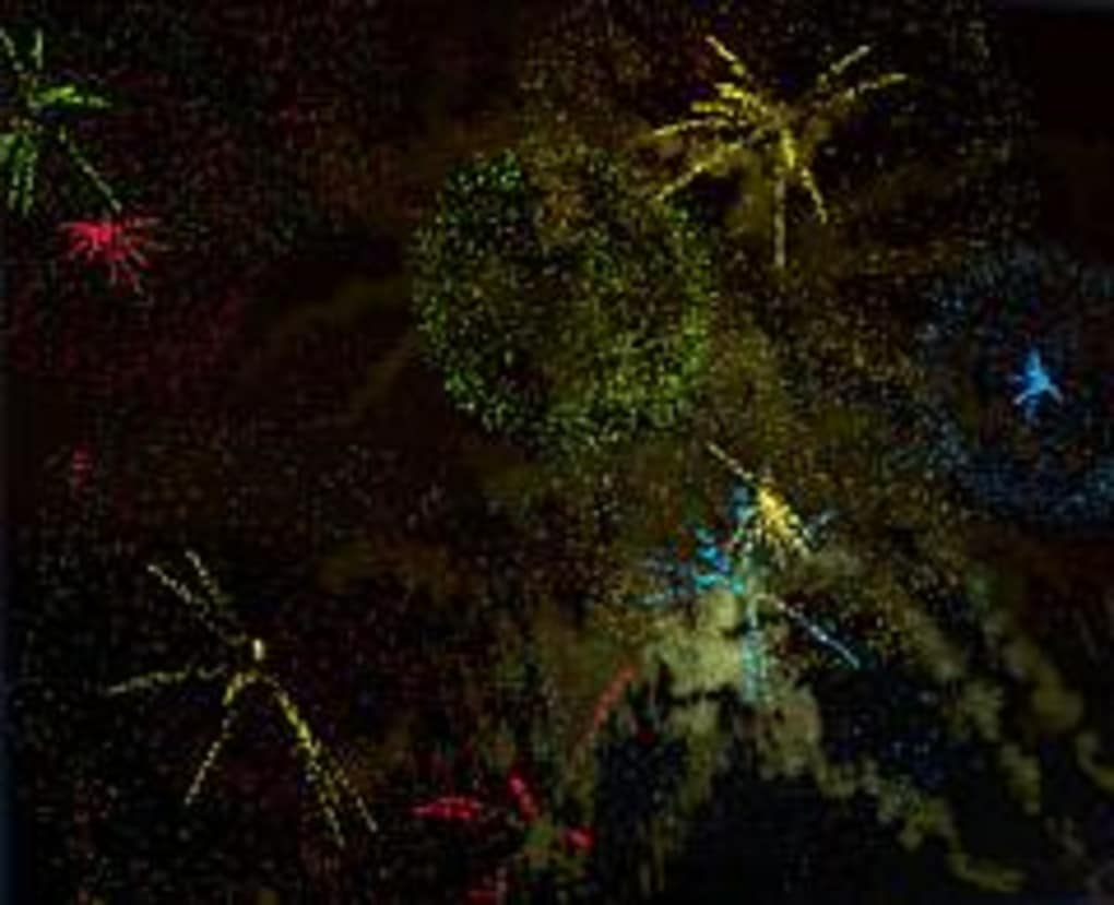 flaredance firework screensaver - download