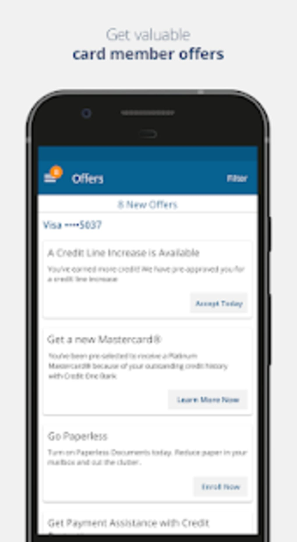 Credit One Bank Mobile for Android - Download