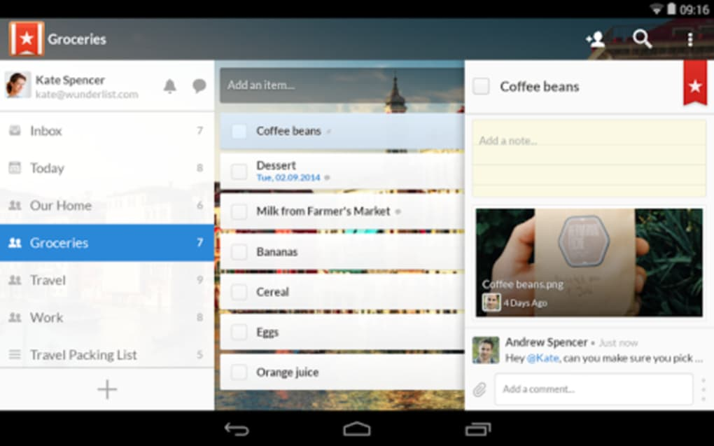 Wunderlist for Android - Download