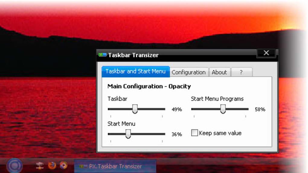 Taskbar Transizer - Download
