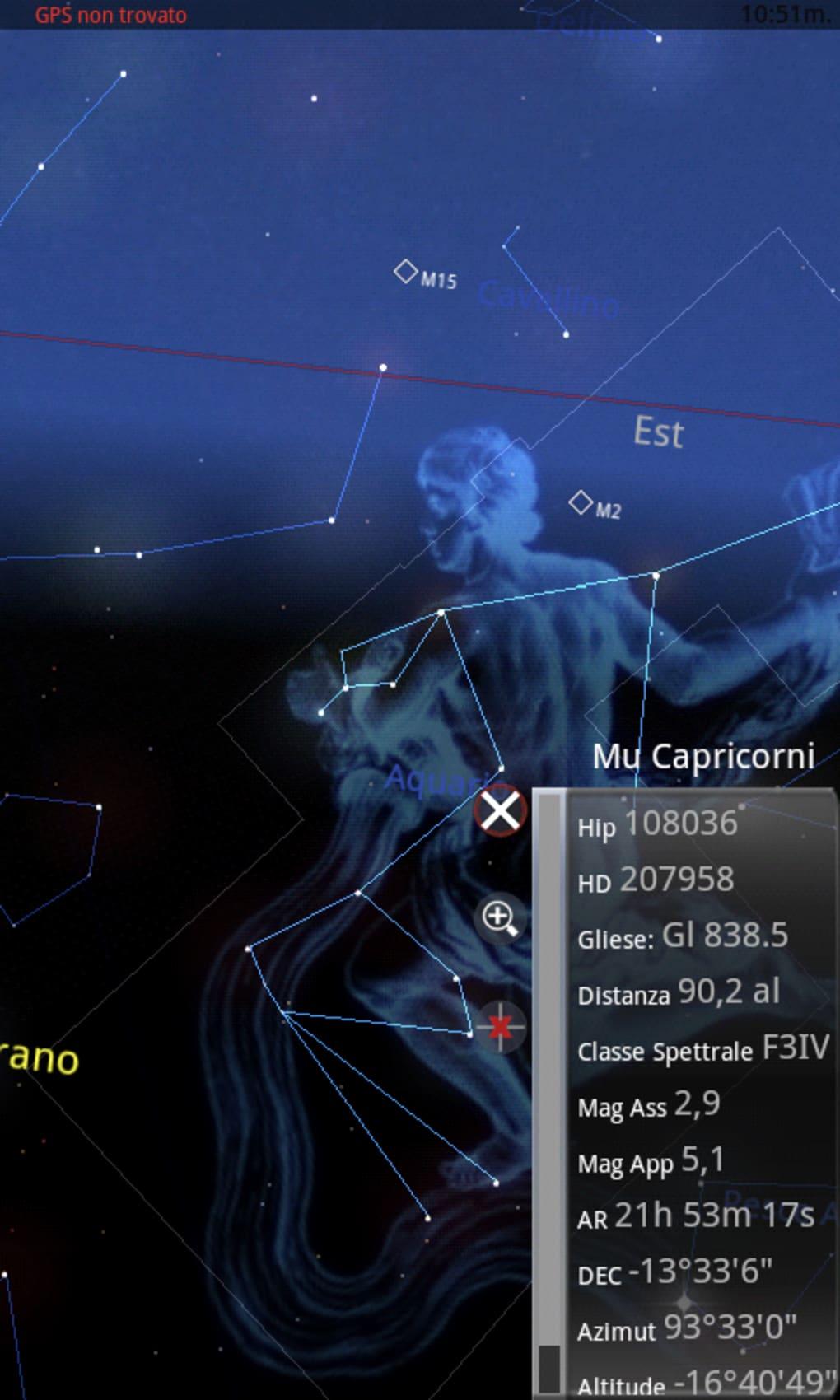mappa stellare gratis