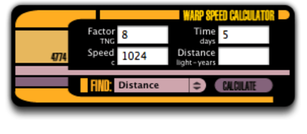 Warp Speed Calculator for Mac - Download